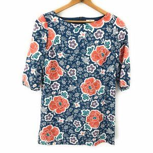 Old Navy Womens Floral Print 3/4 Sleeve Long Top